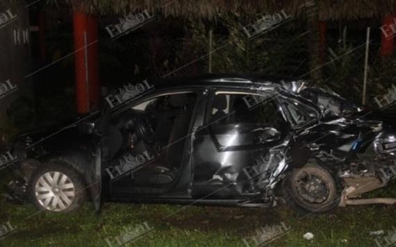 Tres muertos tras choque de camioneta de Pemex con auto particular en Nacajuca