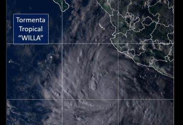 Tormenta Willa podría convertirse en huracán, amenaza México