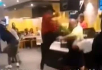 Graban en video pelea UFC en Mcdonald´s, ¿Por unas hamburguesas?
