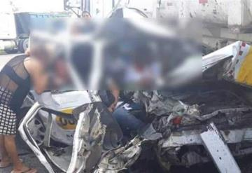 Trágico accidente en carretera Villahermosa-Macuspana km 40