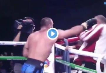 Boxeador pierde y se desquita con su entrenador