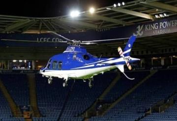 Momento en el que se estrella el helicóptero del Leicester