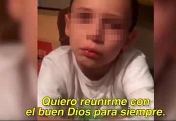 """""""Quiero unirme a Dios"""": Conmociona video de niño víctima de bullying"""