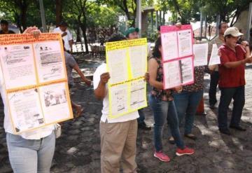 Llegan protestas al Congreso del Estado de cara a la entrega del 6° Informe de Gobierno