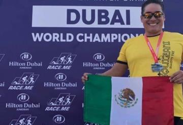 Tabasqueño conquista el Ocenman Dubai 2018