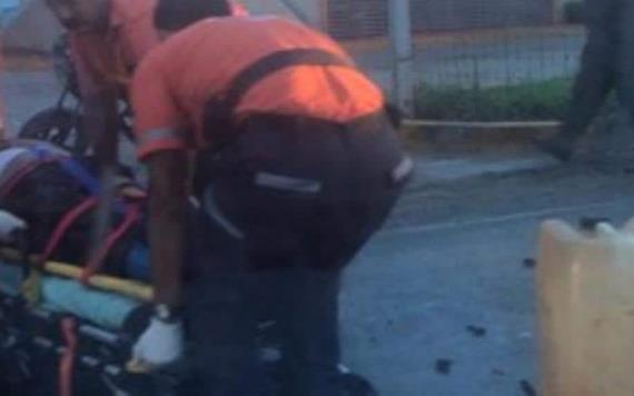 Embisten a una persona en carretera Ixtacomitán