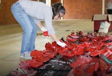 Zapatos Rojos, una intervención contra el feminicidio