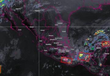 Conagua prevé en próximas horas lluvias intensas para Tabasco