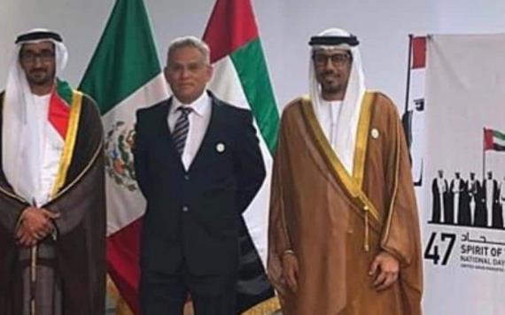 Alcalde de Macuspana busca intercambio cultural con los Emiratos Árabes Unidos