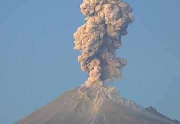 El Popocatépetl registra explosión de 2,500 metros de altura