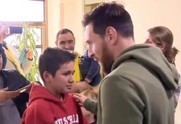 VIDEO: Niño llega a las lagrimas tras conocer a Lionel Messi