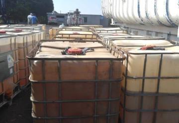 Incautan predio con vehículos, maquinaria y huachicol en Cárdenas y Huimanguillo