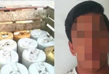 Guatemalteco huachicolero cae con mil litros de diésel robado en Chiapas