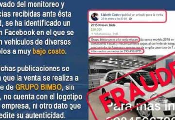 Alerta FGE por perfil falso en Facebook que comete fraudes con ventas de autos a muy bajo costo