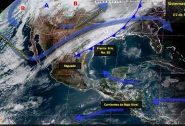 Frente frío no. 35 se extenderá provocando tormentas en varios estados