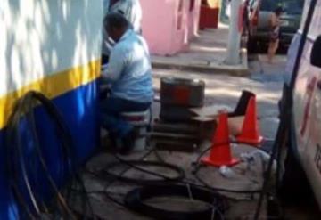 Frustran robo de cableado en líneas de servicio de Telmex en Gaviotas