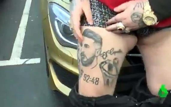 Aficionado de Real Madrid se tatuó a Sergio Ramos, pero se parece a Messi