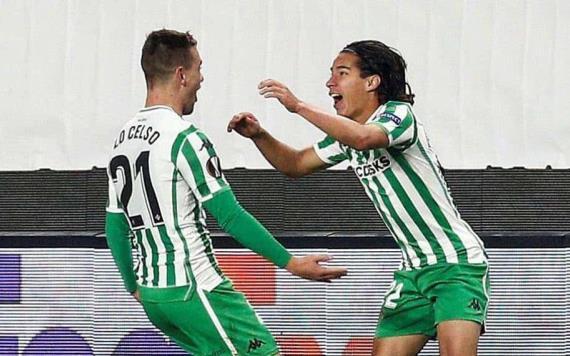 "Golazo de Diego Lainez en Europa; ""Estoy feliz por mi primer gol con el Betis"""