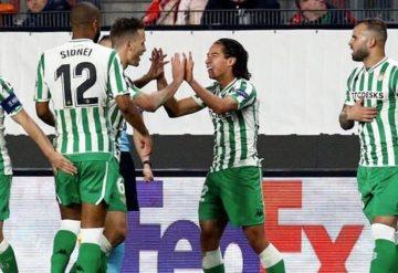 El tabasqueño Diego Laínez marca su primer gol con el Betis en su debut en la Europa League