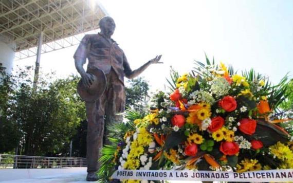 Rinden homenaje al poeta de América, Carlos Pellicer Cámara en Villahermosa