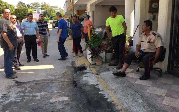Residentes denuncian abuso de autoridad en una privada en Tabasco 2000