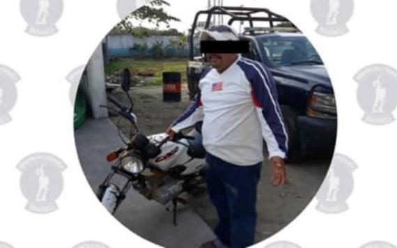 En inspección de rutina detienen en Cárdenas a sujeto dedicado al robo de motocicletas