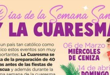 Las fechas de Semana Santa y Cuaresma