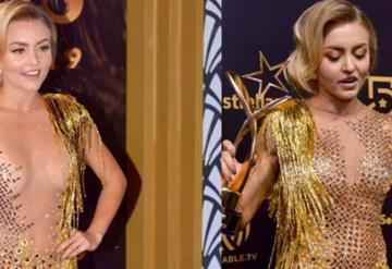 Angelique culpa  a Sebastián Rulli de haberle puesto el vestido al revés