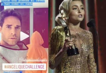 El #AngeliqueChallenge inspirado en el vestido de la actriz, invade redes sociales