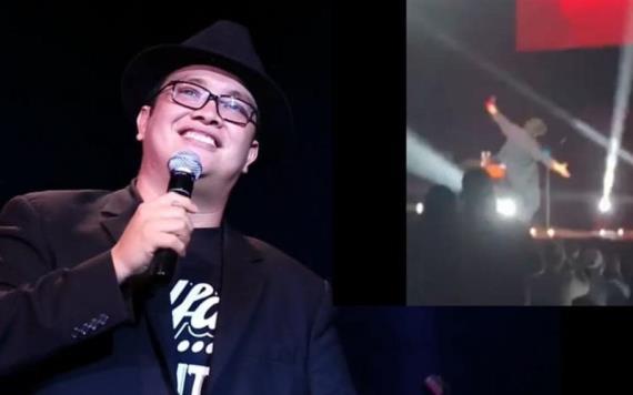 """VIDEO: """"Por fin pasó, me caí en el escenario"""" Franco Escamilla"""