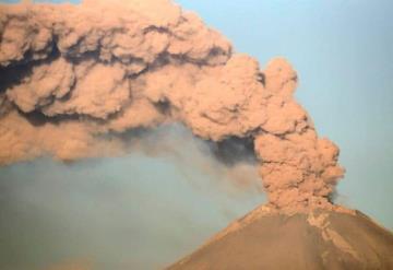 Reportan erupciones en cadena del volcán Popocatépetl