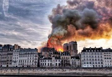 Impactantes fotos del incendio en catedral de Notre Dame
