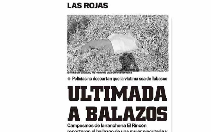 Matan a tabasqueña en Juárez, Chiapas