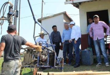 Perforan pozos para dotar de agua saludable a los Bitztales, Macuspana