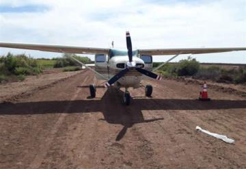 Abandonan avioneta con droga en Sinaloa