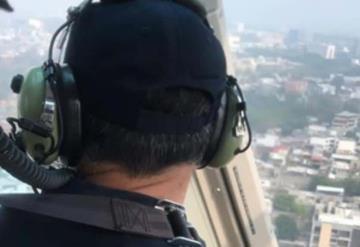 Un helicóptero nos vigila