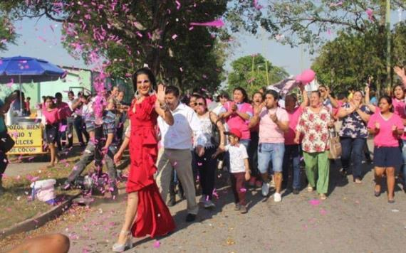 Respalda alcaldesa de Cunduacán a Elsa Peralta Gordillo