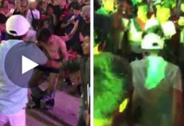 Captan a joven bailando en ropa interior en la Feria Tabasco