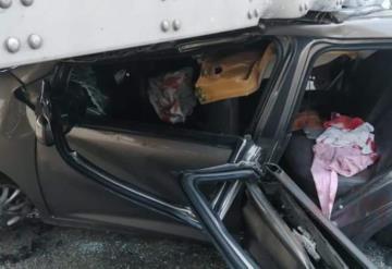 Aparatoso accidente sobre la carretera Villahermosa - Macuspana