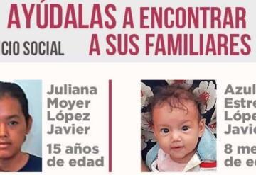 Niñas menores de edad se extravían en Villahermosa, se busca a sus familiares