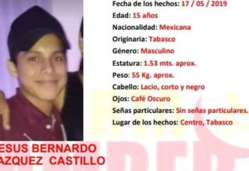 #AlertaAmber activada para localizar a Jesús Bernardo Vázquez Castillo, se extravió en Centro