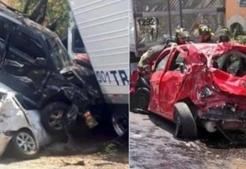 Terrible choque de 7 autos y un tráiler deja tres muertos y múltiples heridos en Santa Fe