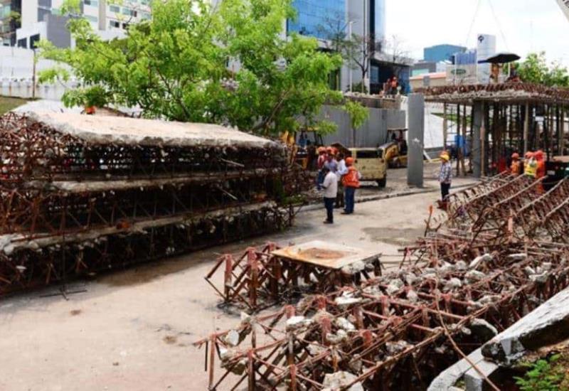 Así va la demolición del puente de tridilosa en Tabasco 2000