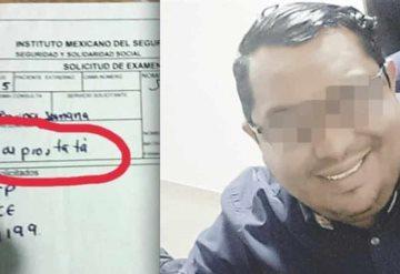 Médico del IMSS le pide examen de próstata a una mujer y ésta muere