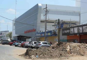 Al 40% obras en calles del Mercado Pino Suárez