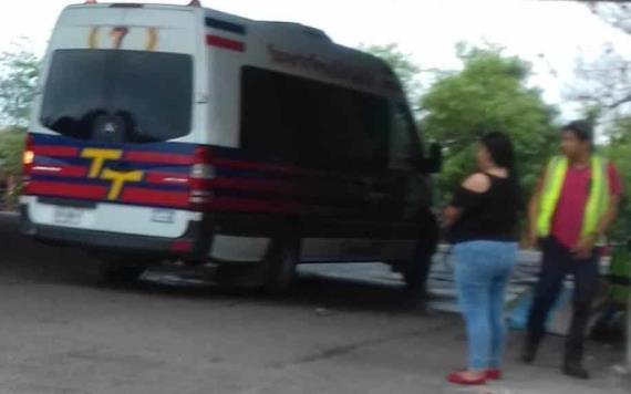 Asaltan a pasajeros de combi sobre la carretera Cunduacán - Comalcalco