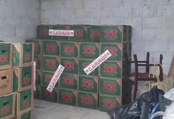 Decomisan más de 100 cartones de caguamas en una bodega clandestina