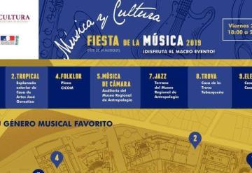 Invitan a disfrutar de la Fiesta de la Música 2019,