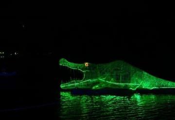 Así luce el Festival de las Luces en Villahermosa, esta noche fue inaugurado