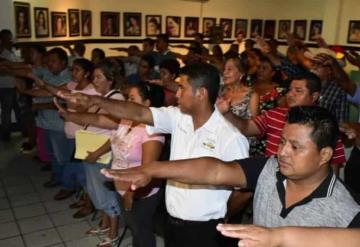 Toma alcalde protesta a delegados y jefes de sectores